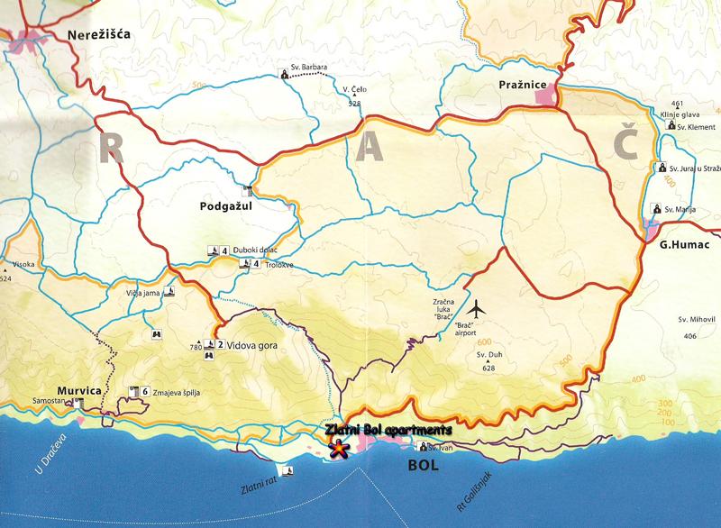 karte hvar kroatien
