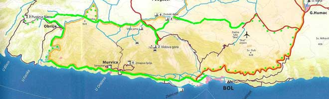 Map south Brac