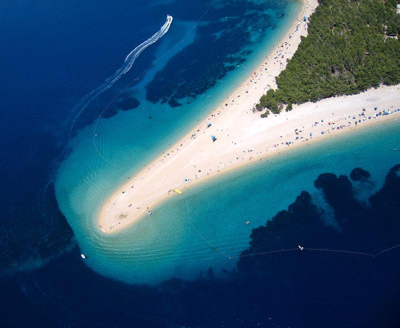 Zlatni Rat Beach Brac Island Croatia